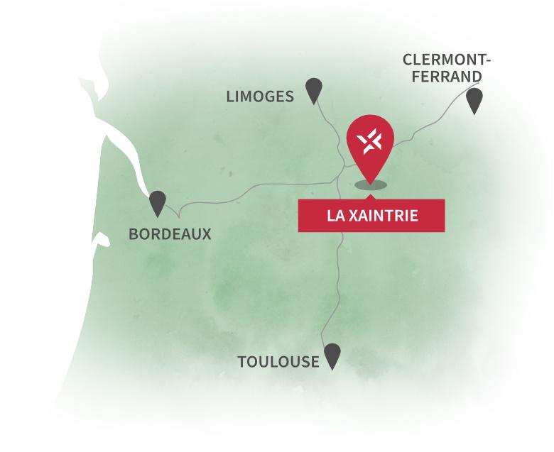 Localiser la Xaintrie en France